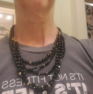 Chan Luu Jewelry - Chan Luu gold vermeil and black bead necklace